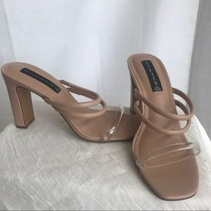 Tan leather sandals Steve Madden
